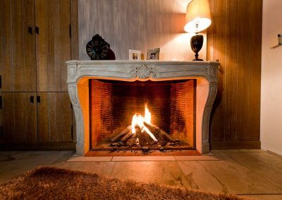 Fireplace with cozy flame