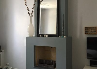 Beautiful stucco fireplace